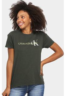 Blusa Calvin Klein Slim Logo Feminina - Feminino