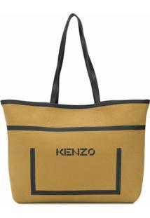 Kenzo Bolsa Tote Com Estampa De Logo - Neutro