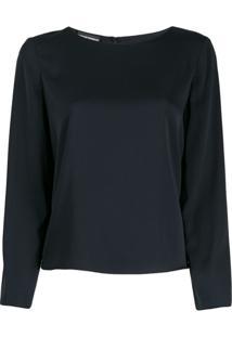 Emporio Armani Camicia Silk Blouse - Azul