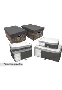 Kit De Caixa Para Enxoval- Incolor & Cinza Escuro- 6Boxmania