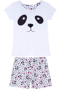 Shortdoll Kalm 100% Algodão Urso Panda