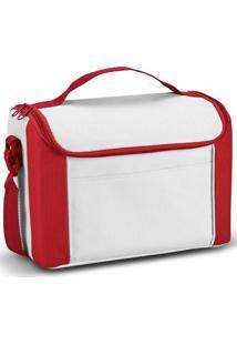 Bolsa Térmica Pequena Spazio Topget Branco E Vermelho - Kanui