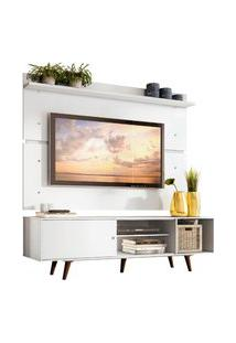 Rack Madesa Dubai E Painel Para Tv Até 65 Polegadas Com Pés - Branco/Rustic Branco