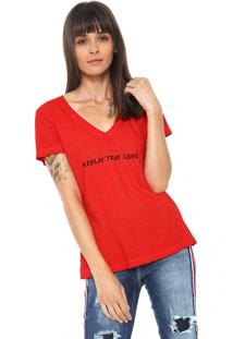 Camiseta Replay True Love Vermelha