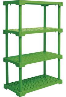 Estante Cube Com 4 Prateleiras Verde