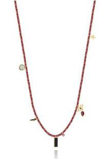 Colar Capri Beads Oa/Rodolita/Ametist/Qt.Negro/Prasiolita - U