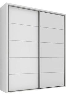 Guarda Roupa Tw101 2 Portas Sem Espelho Branco Brilho