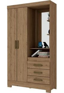 Guarda-Roupa B64 Com Espelho - 2 Portas - Rústico