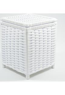 Lixeira / Papeleiro Lavabo E Escritório Fibra Sintetica 20X20X25 - Branco - Kanui