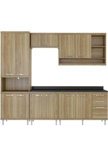 Cozinha Compacta Multimóveis Sicília 5809.132.132.610 Argila Se