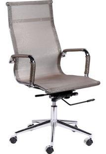 Cadeira Office Eames Tela- Cobre & Prateada- 112,5X6Or Design