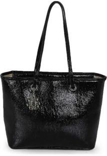 Bolsa Shopping Bag Ana Hickmann Molhado Preto