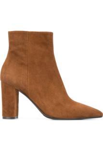 The Seller Ankle Boot De Camurça - Marrom