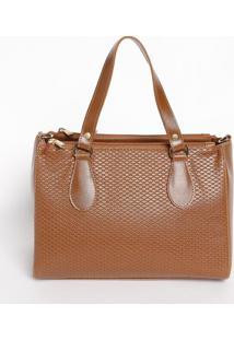 Bolsa Com Recorte Texturizado- Caramelo- 21X27X15Cmmr. Cat