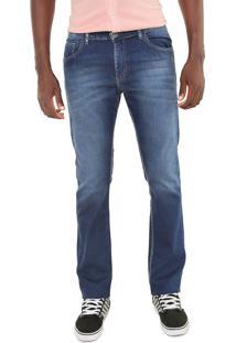 Calça Jeans Doc Dog Reta Estonada Azul