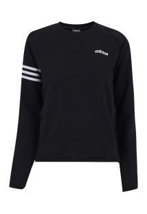 Blusão Moletinho Adidas E Te Se - Feminino - Preto