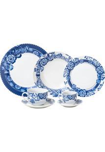 Aparelho De Jantar De Porcelana Super White Torini Wolff – 42 Peças