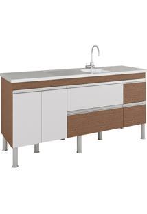 Gabinete Para Cozinha Prisma 86X174Cm Amêndoa E Branco