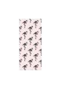 Adesivo Decorativo De Porta - Flamingos - 1629Cnpt