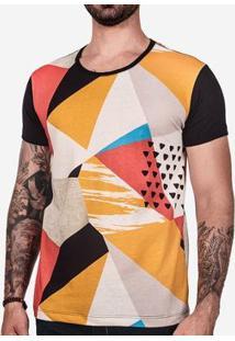 Camiseta Hermoso Compadre Geometric Masculina - Masculino-Preto