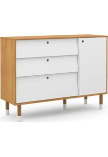 Cômoda Up Freijó/Branco Soft/Eco Wood Matic Móveis