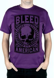 Camiseta Bleed American Caeser Roxo