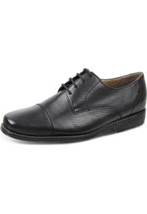 Sapato Social Derby Sandro Moscoloni Special Footbed Com Palmilha Magnética Preto