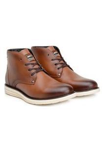 Bota Ankle Boot Classic Masculino Couro Conforto Casual Café 37 Marrom