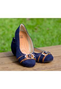 Sapato Dm Extra Nobuck Azul Marinho Dme17361572 Numeração Especial Tamanhos Grandes 41, 42 E 43
