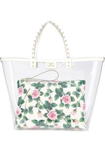 Dolce & Gabbana Bolsa Floral - Branco