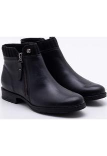 Ankle Boot Bottero Couro Preta 35