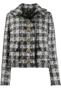 Dolce & Gabbana Checked Tweed Jacket - Preto