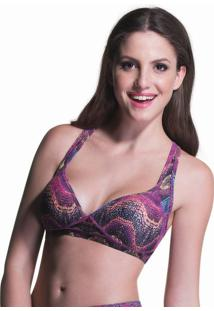 Top Push Up Print Roxo | 506.806