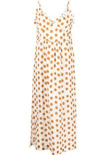 Baum Und Pferdgarten Polka-Dot Print Slip Dress - Marrom