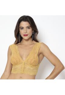 Top Em Renda- Amarelo- Aboutabout