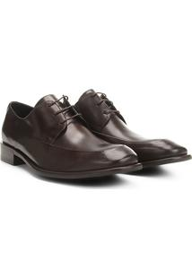 Sapato Social Couro Vr Georgio Masculino - Masculino-Marrom