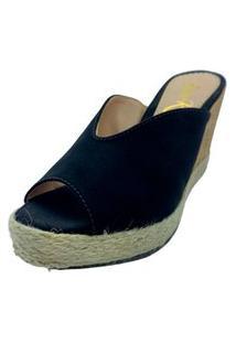 Sapatos Femininos Tamanco Anabela Dani K Preto