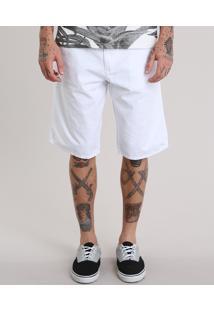 Bermuda Skinny Com Cinto Cadarço Branca