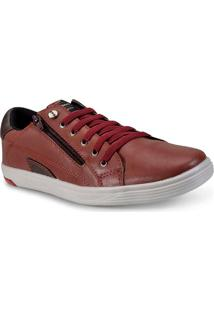 Sapatenis Masc Ped Shoes 11008-E Vinho/Chocolate