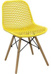 Cadeira De Cozinha Eloisa I Estofada Amarela