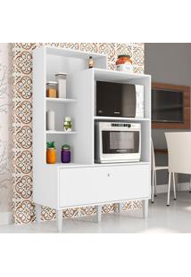 Armário De Cozinha 1 Porta Basculante Amsterdã Branco - Art In Móveis