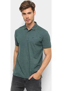 Camisa Polo Ellus Frisos Classic Masculina - Masculino-Verde Militar