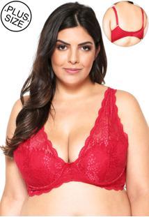 99a27350d Zattini Sutiã Plus Size Sustentação Com Aro Camurça Marcyn -  Feminino-Creme. Ir para a loja  -59% Sutiã Marcyn Triângulo Renda Vermelho