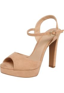 Sandália Polo London Club Suede Antique Nude