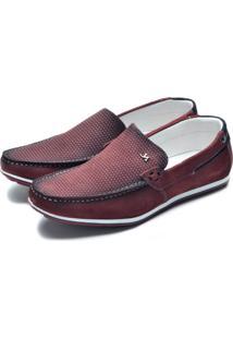 Mocassim Casual Dr Shoes Bordô