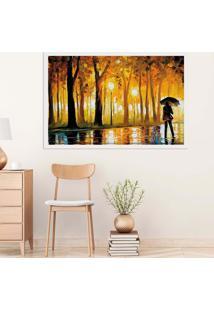 Quadro Love Decor Com Moldura Caminho Das Árvores Branco Médio