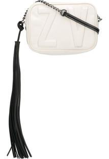 Zadig&Voltaire Bolsa Transversal Com Logo Pespontado - Branco