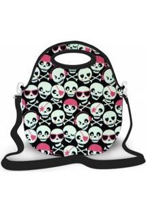 Bolsa Térmica Shop House Monster Skull Luxo Multicolorida