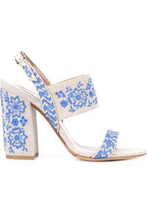 Tabitha Simmons Sandália Com Bordado - Azul