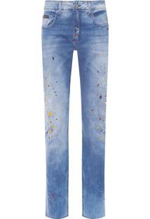 Calça Masculina Jeans 5 Pockets Stain - Azul